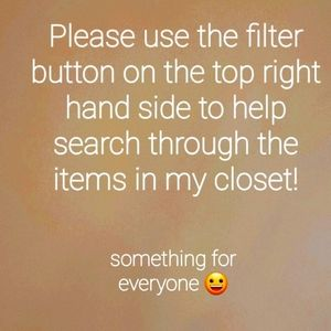 To help search for items in my closet use filter